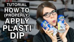 How to apply PlastiDip Cosplay Tutorial
